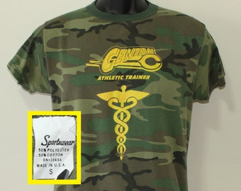 Central College Athletic Trainer TI-HO vintage camouflage t-shirt XS/S