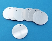 "10 Aluminum Stamping Tags - Mirror Finish - AAA Quality - 1"" Disc - MT76"