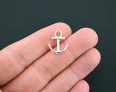 12 Anchor Charms Silver Plated 2 Sided - SC4679