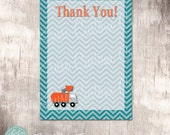 Garbage Truck Birthday Party Instant Download Thank Yous by Beth Kruse Custom Creations