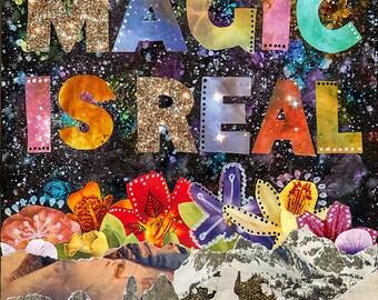 Magic Is Real - original mixed media painting, 40 works in 40 days, original art, bohemian art, original collage, original painting