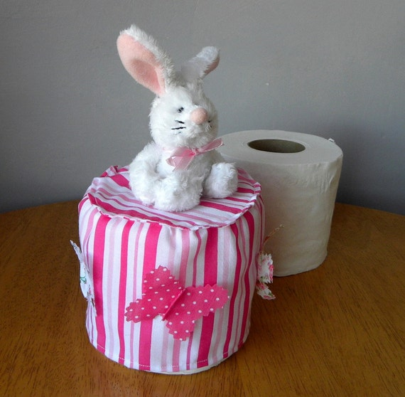 Spare Toilet Paper Roll Cover Bathroom Tissue Cover Pink