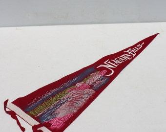 Vintage Felt Pennant Banner Niagara Falls Travel Souvenir
