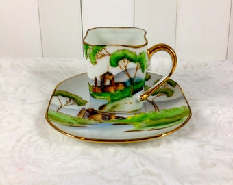Vintage Ardalt Lenwile Occupied Japan Numbered Miniature Tea Cup and Saucer