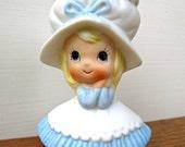Napcoware Miniature Vintage Girl Porcelain Vase Figurine