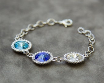 Mothers Day Gift for Grandma, Gift for Mom, New Mother Bracelet, Personalized Birthstone Jewelry