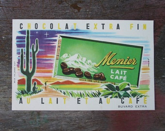 Chocolat Menier Advert Blotting Paper 1950's