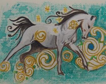 Wild Horse. Aceo.