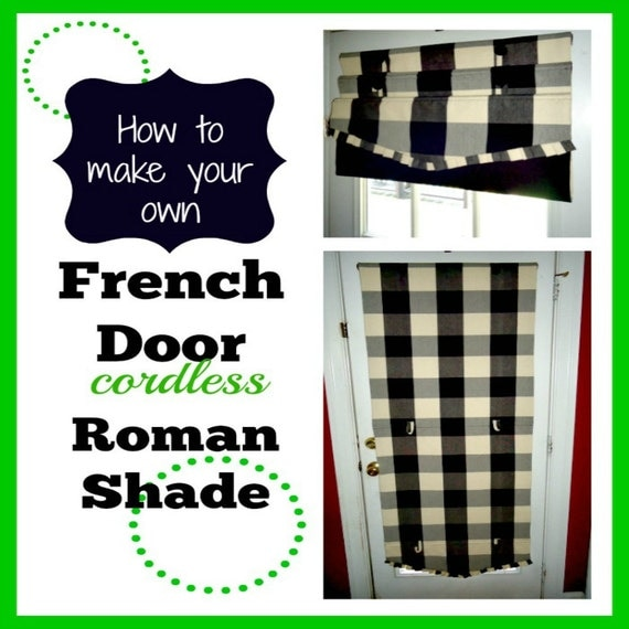 French Door Cordless Roman Shades Diy Downloadable By