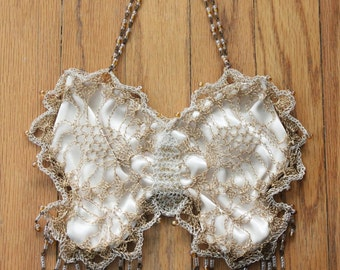Handmade Wire Crochet Evening Bag by Lisa Toland