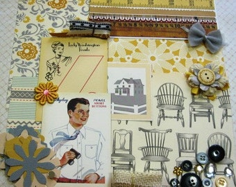October Afternoon Farmhouse Embellishment Kit Inspiration Kit Life Project Kit for Scrapbooking Cards Mini Albums Tags and Papercrafts