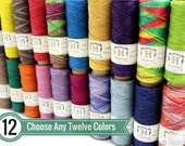0.5mm Hemp Twine, 12 Spool Deal, Micro Macrame Cord, Choose Your Colors