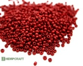 Red Seed Beads, 8/0 Dark Red Czech Glass Sead Beads, 3mm, 1oz