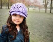 Crochet Newsboy Hat | Girl Hat | Newsboy with Strap | Newsgirl brimmed Hat | Fall Fashion | Women Accessories | Brim Beanie | Womens Hat