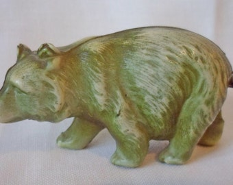 Antique Celluloid Green Bear Sewing Tape Measure