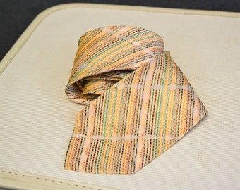 1970s Multi Color Stripe Necktie