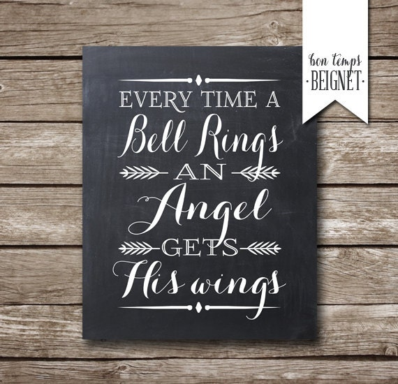 Every Time a Bell Rings an Angel Gets His Wings by ...