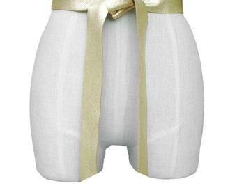 Leather Wrap Belt Gold Tie Belt Leather Tie Belt Raw Edge Leather Belt Women Leather Belts Metallic Gold Minimalist Belt xs s m l xl custom