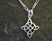 Sterling Silver Celtic Pendant on Sterling Silver Chain.