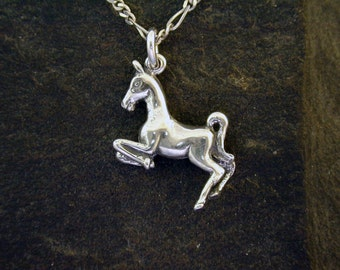 Sterling Silver Horse Pendant on a Sterling Silver Chain