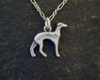 Sterling Silver Grey Hound Pendant on a Sterling Silver Chain
