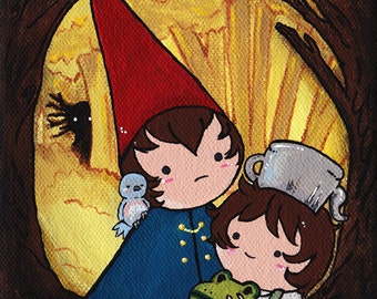 Over the Garden Wall - Original 5x7 Acrylic Painting