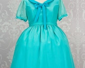 "Disney inspired ""Ariel"" One piece Lolita dress with Chiffon overlay in any colour you can dream up. Made to measure"
