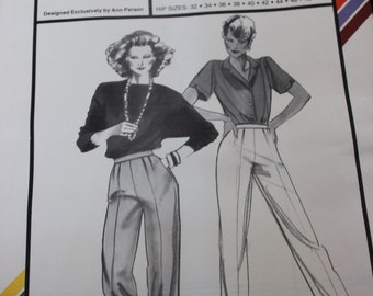 Stretch and Sew Pattern 755 Trousers Multiple Sizes Uncut