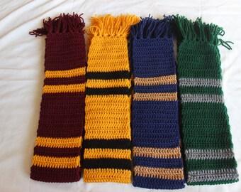 Hogwarts Scarves, All Houses. Custom Available.