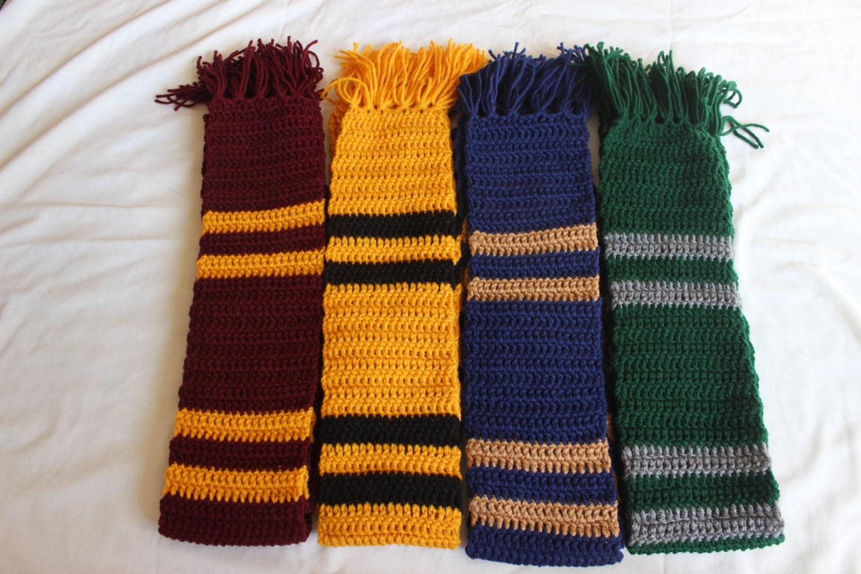 hogwarts scarves all houses custom available