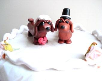 Dachshund Wedding Cake Topper Dog Cake Topper