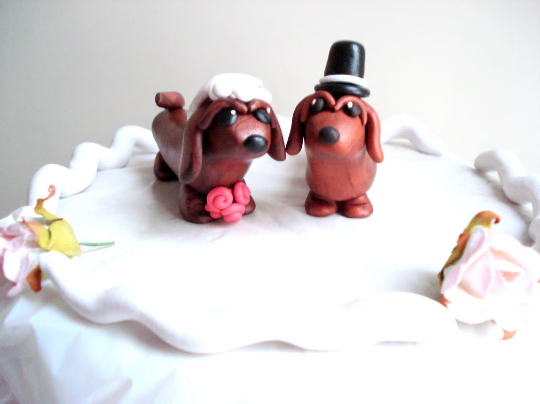 Dachshund Wedding Cake Topper Dog Cake Topper by