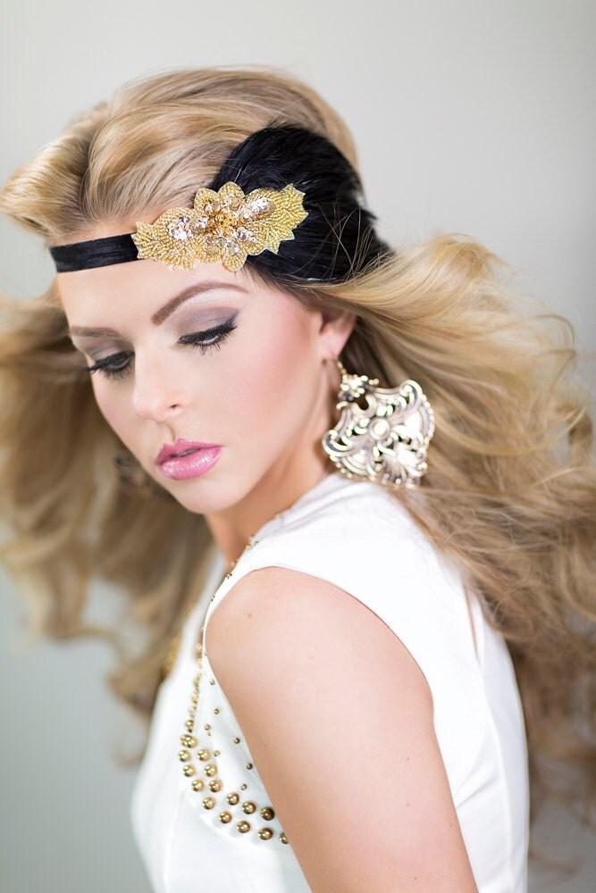 Gold Gatsby Dress Headpiece 1920s Flapper Headband for Gatsby