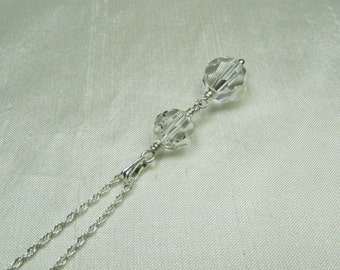 Bridesmaid Necklace Swarovski Crystal Necklace Sterling Silver Bridesmaid Jewelry Bridesmaid Gift Bridal Necklace Wedding Jewelry