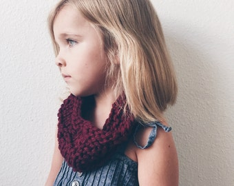 Chunky Cowl: Child Size, CUSTOM, Hand Knit