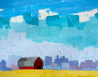 Simple Prairie Landscape II (Series 2) original painting, Big Painting