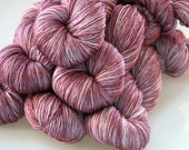 Hand Dyed Yarn - Wool Silk Blend - Sugar Plum
