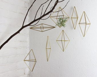 Set of 7 Brass geometric Ornaments