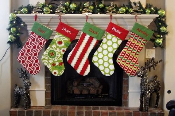 Personalized Christmas Stockings. Extra Large XL Giant Huge