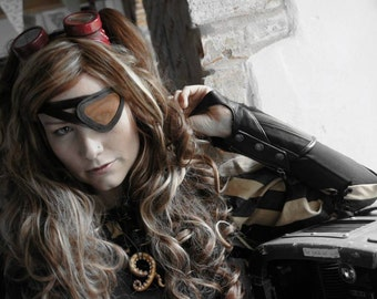 Leather and Mesh Pirate Eye Patch