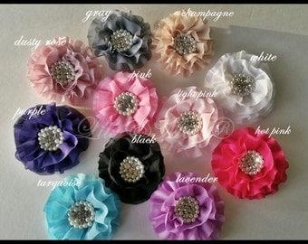 Posh baby flower hair clip, wedding girls hair clip,champagne rustic feather , pink rosette hair clip,rustic headband, clip