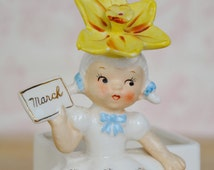 Vintage 1956 March Girl Planter by Napco