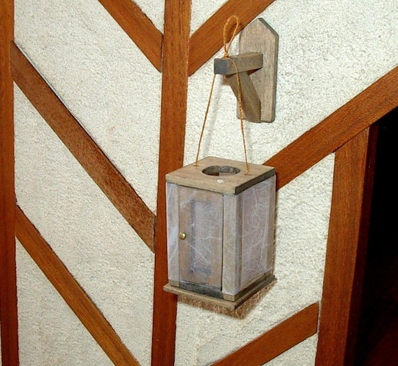 Medieval Lantern And Wall Bracket Rustic Dollhouse By