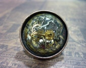 Steampunk Resin Ring with Watch Parts - Great for a Christmas gift!
