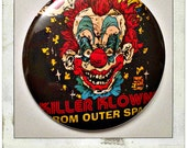"Killer Klowns From Outer Space - Large 2.25"" Button OR Kechain Bottle Opener"