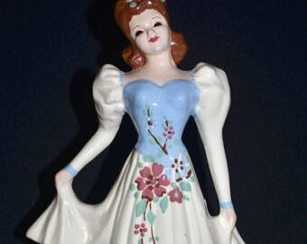 Vintage Mid Century Florence Ceramics Large Lady Dresser Vanity Pocket Organizer