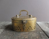 Vintage Brass Trinket / Cricket Box