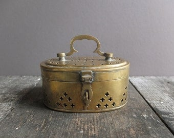 Vintage Brass Trinket / Cricket Box