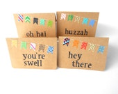Washi Tape Garland Kraft Note Card With Phrase