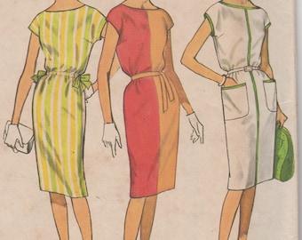 UNCUT 1960's Misses' Sheath Dress Simplicity 4469 Size 12 Bust 32